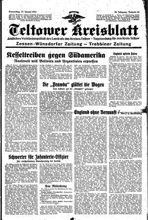 Teltower Kreisblatt vom 27.01.1944