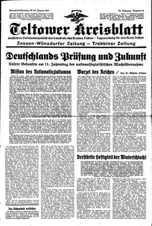 Teltower Kreisblatt vom 29.01.1944
