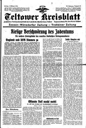 Teltower Kreisblatt vom 04.02.1944