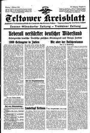 Teltower Kreisblatt vom 07.02.1944