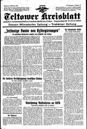 Teltower Kreisblatt vom 08.02.1944