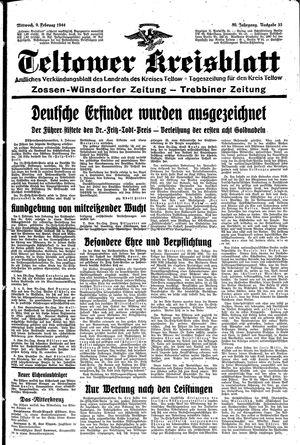 Teltower Kreisblatt vom 09.02.1944