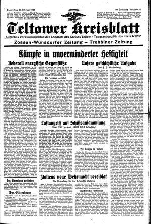 Teltower Kreisblatt vom 10.02.1944