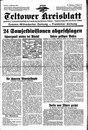 Teltower Kreisblatt on Feb 11, 1944