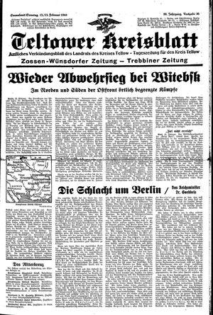 Teltower Kreisblatt vom 12.02.1944