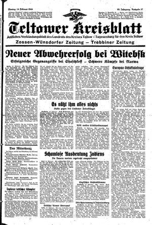 Teltower Kreisblatt vom 14.02.1944