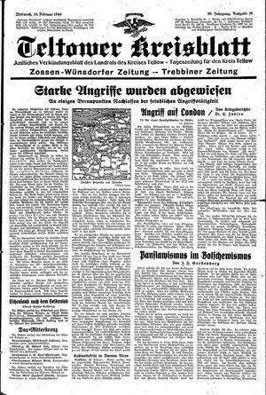 Teltower Kreisblatt vom 16.02.1944