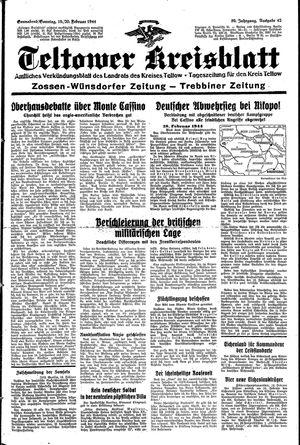 Teltower Kreisblatt vom 19.02.1944