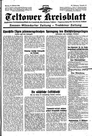 Teltower Kreisblatt vom 21.02.1944