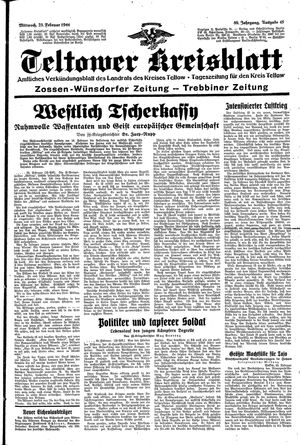 Teltower Kreisblatt vom 23.02.1944