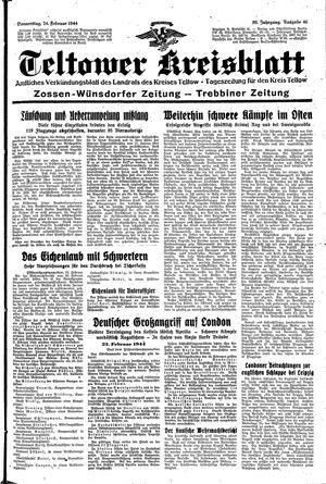 Teltower Kreisblatt vom 24.02.1944