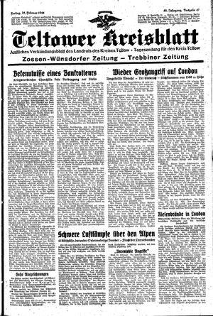 Teltower Kreisblatt on Feb 25, 1944