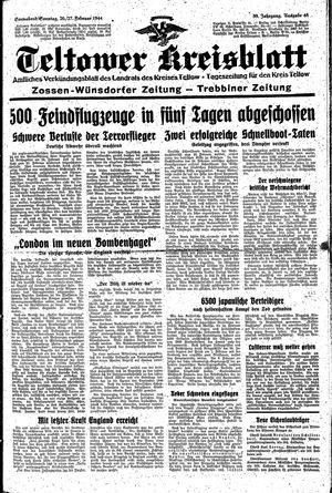 Teltower Kreisblatt vom 26.02.1944
