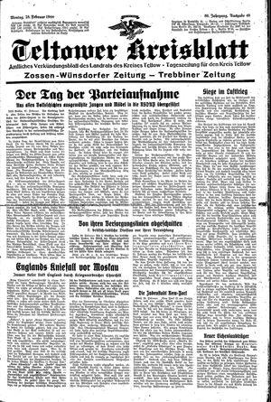 Teltower Kreisblatt vom 28.02.1944