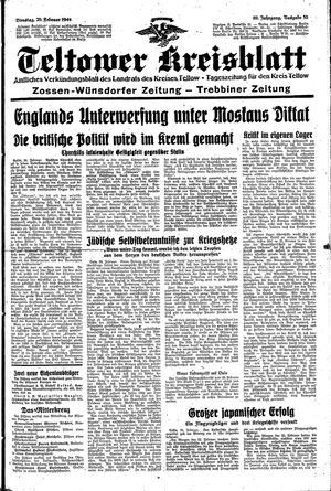 Teltower Kreisblatt vom 29.02.1944