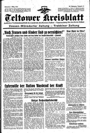Teltower Kreisblatt vom 01.03.1944