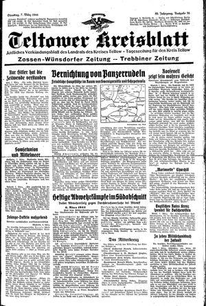 Teltower Kreisblatt vom 07.03.1944