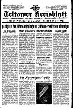Teltower Kreisblatt vom 11.03.1944