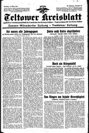 Teltower Kreisblatt vom 14.03.1944