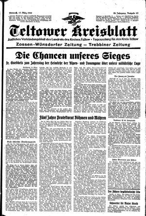 Teltower Kreisblatt vom 15.03.1944