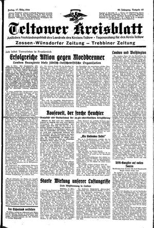 Teltower Kreisblatt vom 17.03.1944