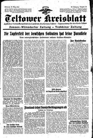 Teltower Kreisblatt vom 22.03.1944