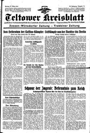 Teltower Kreisblatt vom 27.03.1944