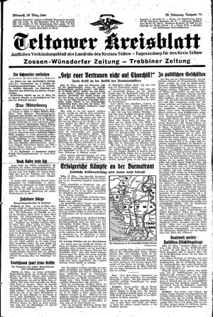 Teltower Kreisblatt on Mar 29, 1944