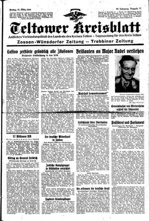 Teltower Kreisblatt vom 31.03.1944