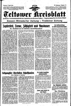 Teltower Kreisblatt vom 03.04.1944