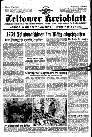 Teltower Kreisblatt vom 04.04.1944