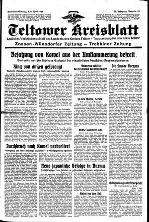 Teltower Kreisblatt vom 08.04.1944