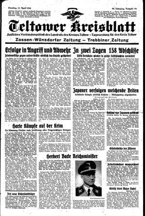 Teltower Kreisblatt vom 11.04.1944