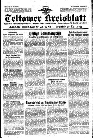 Teltower Kreisblatt vom 12.04.1944