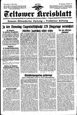 Teltower Kreisblatt vom 13.04.1944