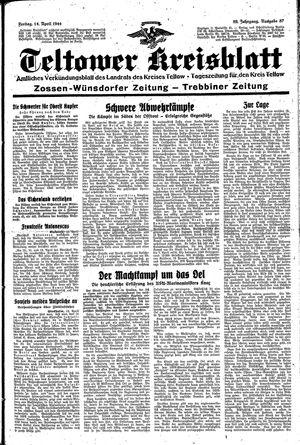 Teltower Kreisblatt vom 14.04.1944