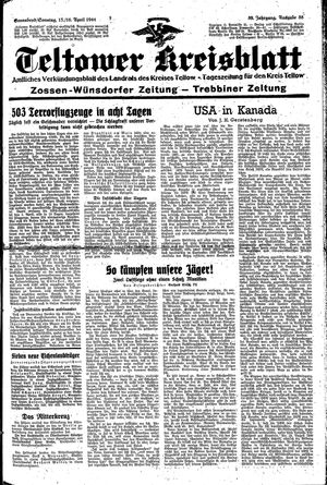 Teltower Kreisblatt vom 15.04.1944
