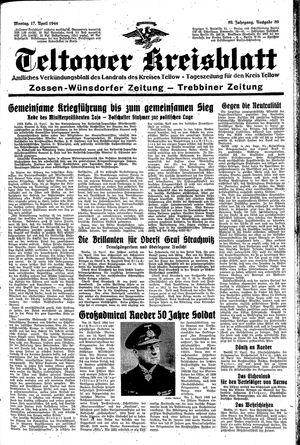 Teltower Kreisblatt vom 17.04.1944
