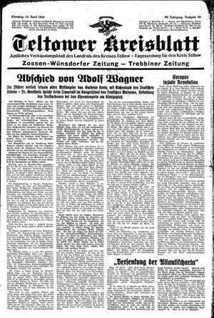 Teltower Kreisblatt vom 18.04.1944