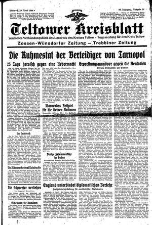 Teltower Kreisblatt vom 19.04.1944
