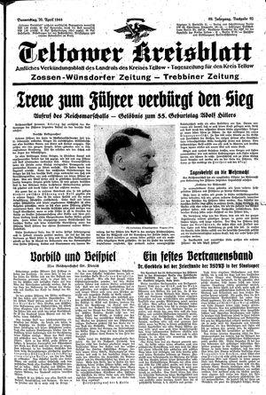 Teltower Kreisblatt on Apr 20, 1944
