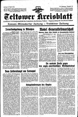 Teltower Kreisblatt vom 21.04.1944