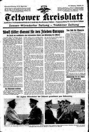 Teltower Kreisblatt vom 22.04.1944