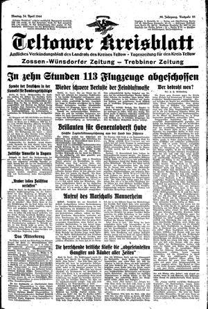 Teltower Kreisblatt vom 24.04.1944