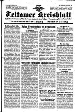 Teltower Kreisblatt vom 25.04.1944