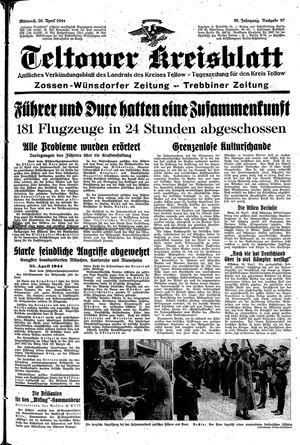 Teltower Kreisblatt vom 26.04.1944
