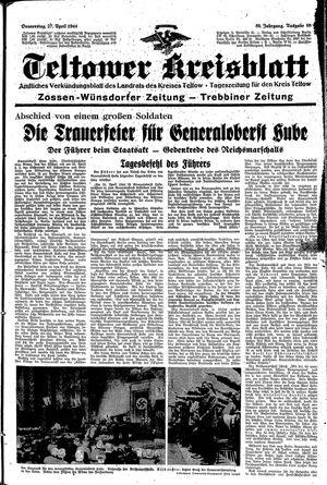 Teltower Kreisblatt vom 27.04.1944