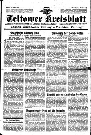 Teltower Kreisblatt vom 28.04.1944