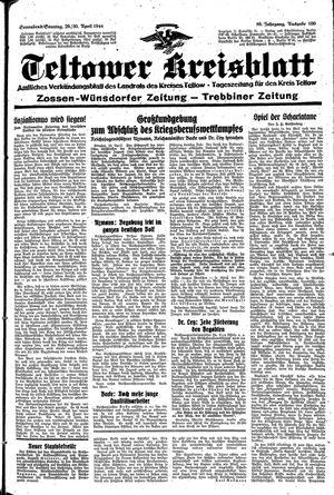 Teltower Kreisblatt vom 29.04.1944
