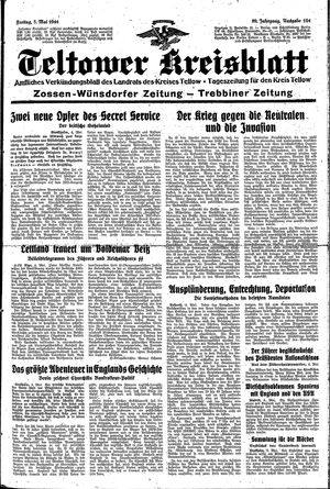 Teltower Kreisblatt vom 05.05.1944